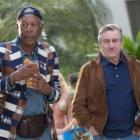 Kevin Kline, Morgan Freeman, Robert De Niro and Michael Douglas enjoy Last Vegas. Photo by Chuck...