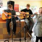 Members of Dunedin band Taking the Fall (from left) Isaac Bernhardt, Scott McKnight and Cally...
