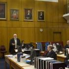 Kieran Raftery QC delivers his closing of the Crown's case in Christchurch yesterday.