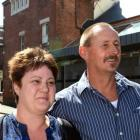 Kim and Brent Julius following the sentencing yesterday. Photos by Peter McIntosh.