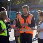 Kohan McNab helps lead the Student Volunteer Army after the 2011 Christchurch earthquake. Photo...