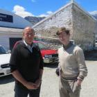 Lakes District Museum director David Clarke, of Arrowtown, and University of Otago student Logan...