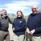 Larry Burrows (Landcare Research), Melanie Schauer (Environment Canterbury) and high country...