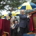 The Honourable Anand Satyanand opens the new John McGlashan College , The Edgar Learning Centre...