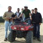 Learning to drive all-terrain vehicles with tutor Alex Huffadine (third from left) are (from left...