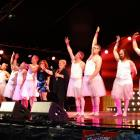 Led by Queenstown Lakes Mayor Vanessa van Uden, the male ballet troupe dance to Gloria Gaynor's I...