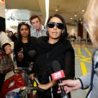 Leeza Ormsby arrives at Auckland International Airport. Photo by NZ Herald