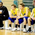 American import Lemar Gayle watches an Otago Nuggets training session.  Photo by Craig Baxter
