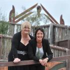 Lesley Donner (left) and Kiri Walsh celebrate their wedding at Puketeraki Marae. Photo by Linda...