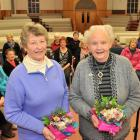 Life members of the Dunedin Star Singers choir Edith Martin (left) and Madelene Barkman with...