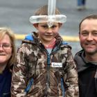 Lillian, Brody (5), and Andy Cooper, of Palmerston.