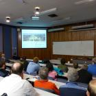 Lincoln University agricultural systems professor Tony Bywater warns staff and students of an...
