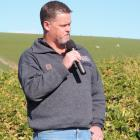 Lincoln University senior lecturer in livestock health and production Jim Gibbs speaks at the...