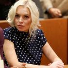 Lindsay Lohan attends a probation violation hearing at Airport Branch Courthouse in Los Angeles,...