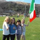 Lining up for Italy were (from left) Kate Edmonds (7), Stella Charnley (8), Ana Winders (8) and...