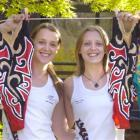 Lisa (left) and Nina Daniels have retired from competitive synchronised swimming but plan to stay...