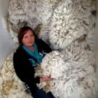 Liz Wright with fleeces at Earnscleugh Station. She is inviting young Otago women to enter the...