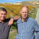 ll Black fans  vineyard owner Nigel McKinlay (left), of Bannockburn, and writer Roger Hall, of...