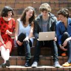 Logan Park High School NCEA level 3 candidates (from left) Georgina O'Reilly (18), Rhiannon...