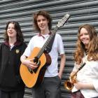 Logan Park High School pupils (from left) Gabriel Griffin (15), Sam Vennell (15) and Rowena...