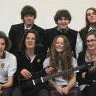 Logan Park High School Smokefreerockquest regional finalists (front, from left) Sam Vennell (16) ...