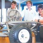 Looking good: Members of the Bayfield High School Grass Kart Challenge team (from left) Regan...