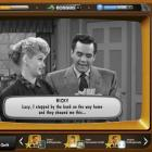 Lucille Ball and Desi Arnaz are shown in a scene from 'I Love Lucy', re-imagined as a video game,...