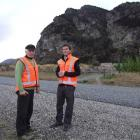 Lyal Cocks (left) with Mark Cruden, director of a Wanaka contracting firm leading a crusade to...