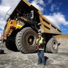 Lynne Ward provides a soft touch to driving her monster 120-tonne dump truck at OceanaGold's...