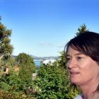 Macandrew Bay property owner Anna Leslie has questions for the 2GP planners. Photo by Peter McIntosh
