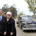 Macdonald and Weston Funeral Directors managing director Sharron Hanley and her husband David,...