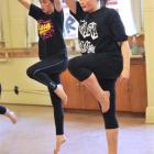 Madeline Seuseu-Mosgrave (15, left) and Samara Marks (14) perform a contemporary dance. Photos by...