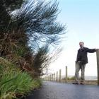 Maia resident Stephen Loach is upset about the large amounts of broom and gorse growing beside...