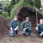 Malcam Trust grounds maintenance supervisor at the Dunedin Botanic Garden Andy Birchall (centre)...