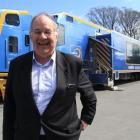 Managing director of mobile health services Dr Stu Gowland visits  Oamaru yesterday to help...