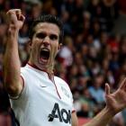 Manchester United's Robin van Persie, seen celebrating a hat-trick against Southampton, will be...