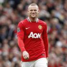 Manchester United's Wayne Rooney enjoys his day out against Arsenal in their English Premier...