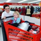 Maree Darling and daughter Summer (23 months) visit the new Warehouse store in Mosgiel yesterday....