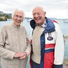 Margaret (84) and Bill McIndoe (86) at their boat shed, Careys Bay, Dunedin, after a sometimes...