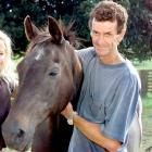 Mark Todd and Charisma at Todd's Cambridge stud in 2001.