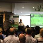 Marlborough farmer Doug Avery speaks to a full house in Gore last week as part of his Resilient...