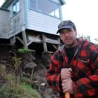 Marty Duffy believes his Northeast Valley house will be a write-off after a ''canyon'' opened up...