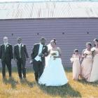 Marvin and Geua with their wedding party following their marriage in Palmerston. Photo by Moira...