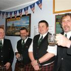 Mataura Kilties Pipe Band members (from left) Jim McKelvie, Kevin Murphy, Quentin Wylie and Jeff...