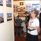 Maureen Karauria, of Kaitangata, inspects exhibits at the Kaitangata Black Gold Heritage Museum...