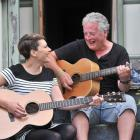 Melissa Partridge and Nic Leeden, both of Dunedin, rehearse ahead of the Silverpeaks Country...