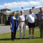 Members of the Alexandra Business Group (from left) Daphne Hull, Alan McLellan, Stu Millis and...
