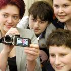 Members of the Bayfield High School Junior Film Club (clockwise, from left) Louise Chandler (18),...