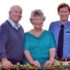 Members of the Neill family, from left, Sam (65), Christine (64) and Kevin (31), who are all...