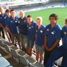 Members of the new Otago apprentice programme are (from left): Josh Dickson, Troy Callander,...